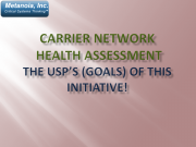 Carrier Network Health Assessment The Usps