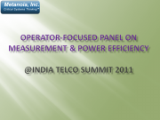 India Telco Summit Panel