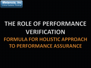 Role-of-Performance-Verification