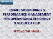 Smart Monitoring and Performance Management for Operational Efficiency!